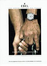 PUBLICITE ADVERTISING 126  1999    Ebel montre  1911 par Hans Gissinger H Ford 2