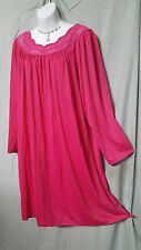 "NATIONAL BERRY CALF LENGTH LONG SLEEVE MIDWEIGHT NIGHTGOWN SZ 2X GIFT 56"" BUST"