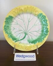 Antique Wedgwood Majolica YELLOW GREEN & WHITE LEAF PLATE c. 1861 (B)