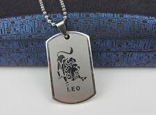 Leo 1pcs Women/ Men's Silver 316L Stainless Steel  Pendant Necklace