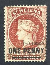 MOMEN: ST HELENA SG #21s P14*12.5 SPECIMEN CROWN CC UNUSED £ LOT #5135