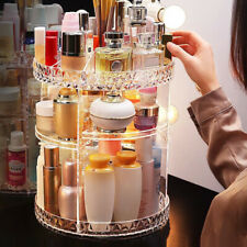 Cosmetic Makeup Organiser Storage Box Shelf 360 Degree Rotating Displays Acrylic