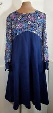 Vintage Womens 1960s Floral Print Dress  -SIZE 16- *Made in France*Retro/Sixties