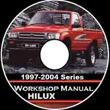 TOYOTA Hilux 1997-2004 2WD-4WD Series  Workshop  Manual CD    AUSTRALIAN VERSION
