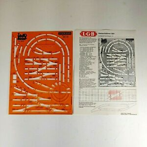 1001 LGB Track Planning Template Standargraph 6807 G scale
