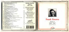 Cd FRANK SINATRA Volume 3 1939-1940 Complete edition - Masters of Jazz 1993