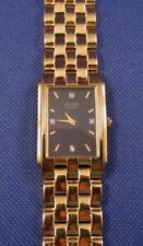 CITIZEN Quartz 1022-K18078 CKW Gold Tone Wristwatch w/ NEW Battery & SS Band