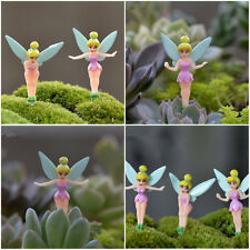 3pcs Tinkerbell Fairy Miniature Figurine Plant Pot Dollhouse Garden Ornament DIY