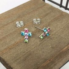 High Quality Cross Titanium Stud Earrings Made in Korea US Seller