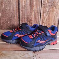 Saucony Boys Excursion A/C Shoes Sneakers Blue Orange Gray US 10.5 M