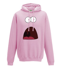 Shocked Patrick star meme spongebob squarepants character hoodie sizes S-XXL