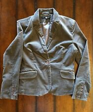 C&A Corduroy Gray Blazer Jacket Sz M Lined Long Sleeve One Button & Hand Pockets