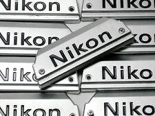 Genuine NEW NIKON FG Camera Chrome Front Name Plate Replacement Part w/Screws
