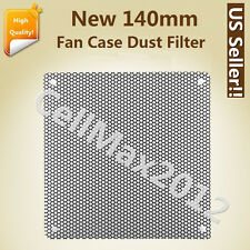140mm Computer PC Dustproof Cooler Fan Case Cover Dust Filter Mesh with 4 screws