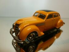 REX TOYS CHRYSLER AIRFLOW 1935 - YELLOW/ORANGE 1:43 - VERY GOOD - 7