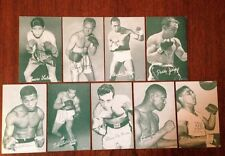 BOXING EXHIBIT CARDS LOT OF 9 1950'S ARCHIE MOORE SUGAR RAY