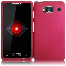 For Motorola Droid RAZR HD Rubberized HARD Case Snap On Phone Cover Hot Pink