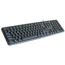 Infapower X201 Full Size Black Wired Keyboard Num Pad Waterproof Multimedia Keys