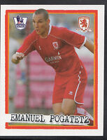 Merlin Football Sticker - Kick Off 2007-08 - No 145 - Middlesbrough - Pogatetz