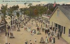 The Midway at Crystal Beach Canada Postcard Amusement Park