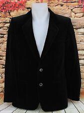 Vintage 1970s YSL Yves Saint Laurent Mens Black Velvet Smoking Jacket Blazer 38