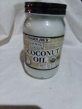 Trader Joe's Joes Organic Virgin Coconut Oil Cold Pressed Unrefined 16 oz