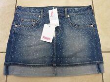 Blugirl Folies Womens Studded Denim Skirt Size 10-12 BNWT Blue Uk Freepost