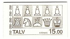 FAROE ISLANDS 1983 Booklet Chess Pieces SG81/2