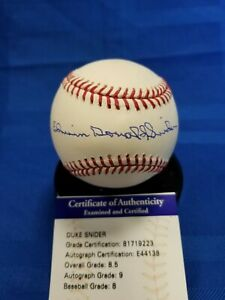 "Edwin Donald ""Duke"" Snider autographed MLB Selig baseball. PSA authenticated"