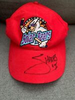 RARE Vintage Orlando Solar Bears Snapback Hat Cap Red Sports Hockey IHL