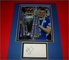 Jamie Vardy Leicester City FC Autographed signed card & photo mount COA AFTAL