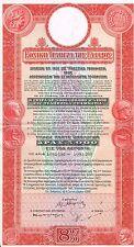 GREECE 8% 1926 BOND stock certificate 5000