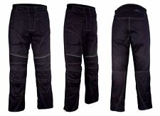 Men Textile Waterproof Motorbike Motorcycle Thermal Armoured Trouser Cargo Pant Black With Rubber 34wx34l
