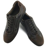 Johnston & Murphy Brown Leather Suede Casual Lace Up Sneaker Mens US 12