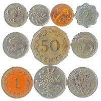 10 DIFFERENT MALTESE COINS. MONEY FROM MALTA. OLD CURRENCY: CENTS MILS, OR LIRA