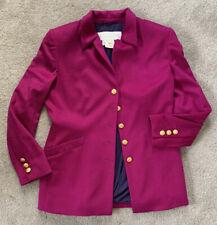 Vintage Escada Margaretha Ley Size 40 Wool Blend Pink Blazer Jacket Germany