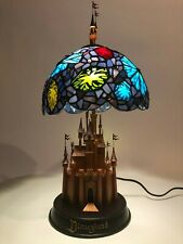 RARE - Limited Edition Disney Sleeping Beauty Castle Stained Glass Lamp - MINT