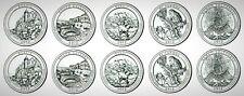 2012 USA America the Beautiful (ATB) National Parks UNC BU P&D 10 Coin Set!!
