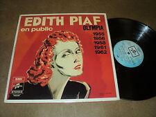 """@ EDITH PIAF TRIPLE 33 TOURS LP 12"""" FRANCE EN PUBLIC OLYMPIA 1955/56/58/61/62"""