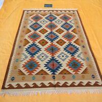 Large Afghan Kilim Rug Carpet 5'x8' Hand Woven Traditional Ghazni Wool Kelim Rug