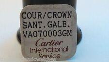 CARTIER SANTOS Galbee NOS- PM CROWN BLUE SAPPHIRE 4.7mm Crown NEW - VA070003 GM