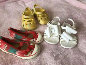 Girls Bulk Shoes Size 6 ~ PUMPKIN PATCH Bow Jellies Sneakers + KMART Yellow Croc