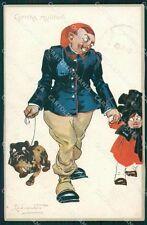 Codognato Propaganda WWI Military TEAR SOFT CREASE serie 8060 postcard QT6580