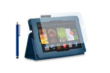 Custodia per Amazon Kindle Fire HD - Blu + Pennino + Pellicola