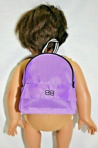 """18"""" Dolls Clothes Purple Backpack For Our Generation Doll American Girl Dolls"""