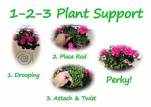 1-2-3 Plant Supports - Green Wire, Aesthetic, & Quick Install!