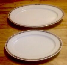 2 HEINRICH CO SELB BAVARIA  PLATTERS EMPIRE? PATTERN