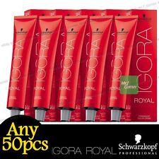 Any 50pcs Schwarzkopf IGORA ROYAL Permanent Colour Hair Dye Specialities Series