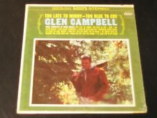 Glen Campbell - Too Late To Worry - ORIGINAL 1963 Stereo  LP - SEALED!