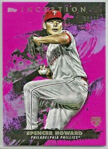 2021 Topps Inception SPENCER HOWARD Rookie Magenta Parallel SP /99